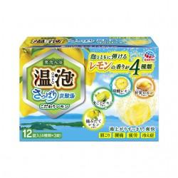 温泡 ONPO さっぱり炭酸湯 こだわりレモン 12錠入